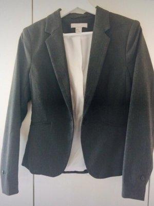 H&M Divided Blazer de esmoquin gris oscuro-gris antracita