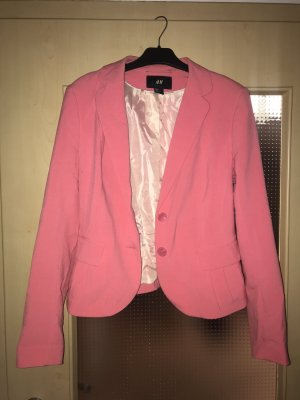 H&M Denim Blazer bright red