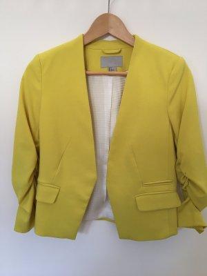 H&M Korte blazer neongeel