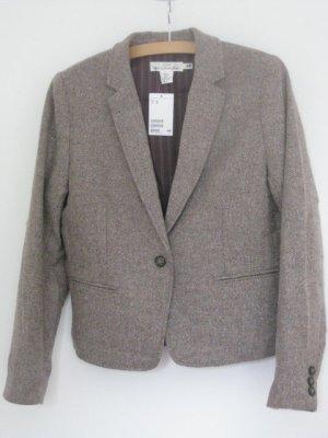 H & M: Blazer aus hellbraunem Tweed, NEU, Größe 44