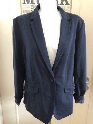 H&M Jersey Blazer dark blue