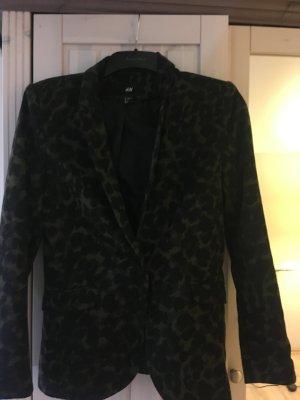 H&M Sweat Blazer black-dark green