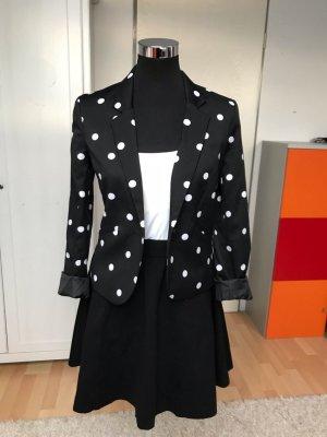 H&M Sweat Blazer white-black