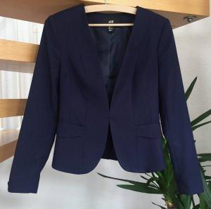 H&M Blazer dunkelblau / blau / marine Gr. 36 festlich Business chic tailliert wie neu