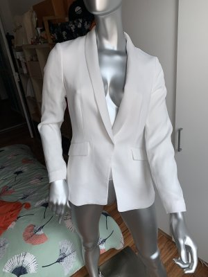 H&M Leather Blazer white
