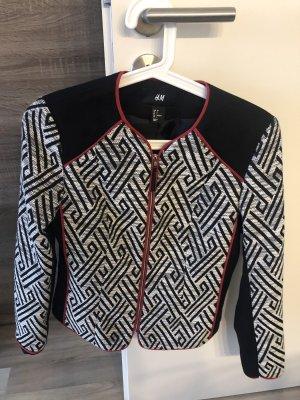 H&M Jersey Blazer black-white