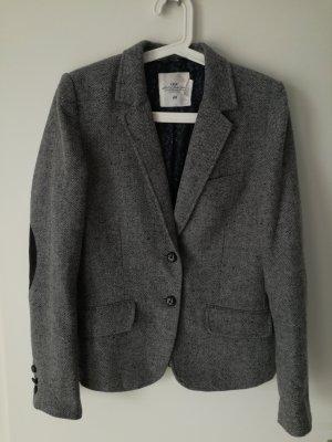H&M Blazer in lana nero-grigio chiaro
