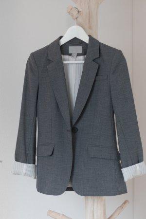 H&M Blazer grau meliert Größe 34