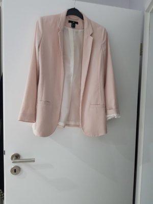 h&m blazer in rose farbe