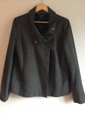 H&M Tweed Blazer grey-dark grey