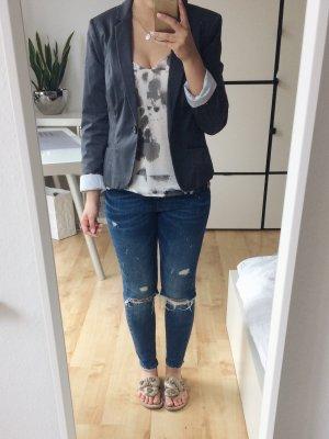 H&M Blazer Jacke grau anthrazit Größe 38