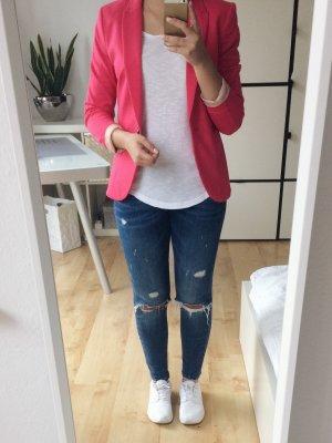 H&M Blazer Jacke pink fuchsia rot Größe 36