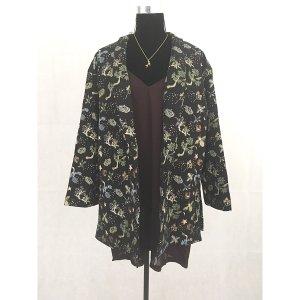 H&M Blazer Jacke Schwarz bunt Muster L 40 42