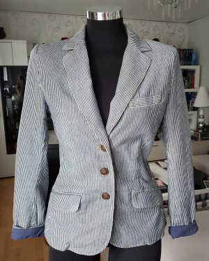H&M Denim Blazer blue-white