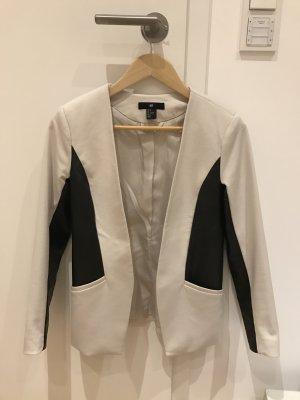 H&M Blazer mit Leder, Größe 34