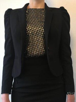 H&M Blazer mit Puffärmeln im 80er Jahre Stil 80s - schwarz - M