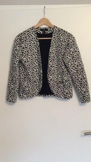 H&M Blazer mit schwarz-weißem Leopardenmuster
