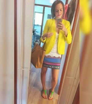 H&M Blazer Neon Neongelb Gelb 38 tailliert Kurzjacke Jacke