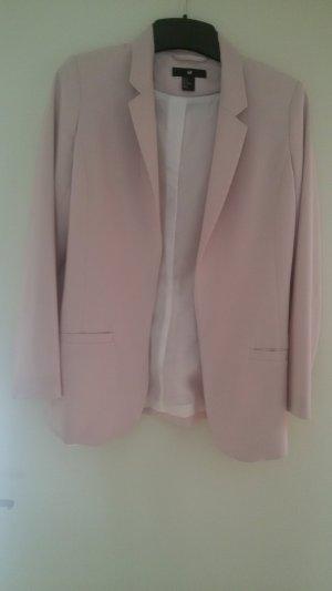 H&M Blazer offen rosé Gr. 34