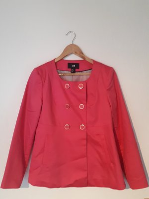 H&M blazer pink gold
