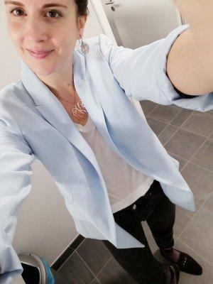 H&M Blazer Sakko Jacke hellblau 40