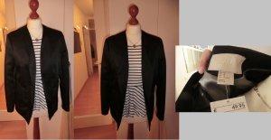 H&M Blazer Sakko schwarz glanz neu mit Etikett 40