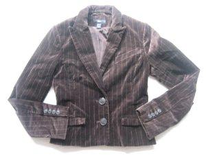 H&M blazer samt braun vintage gr. 34 xs