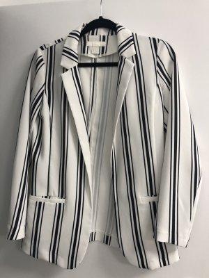 H&M Blazer schwarz weiß gestreift