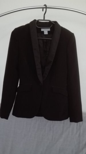 H&M Blazer Smoking schwarz XS 34 business edel