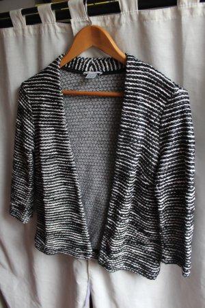 H&M Blazer Streifen Schwarz Weiß S 36
