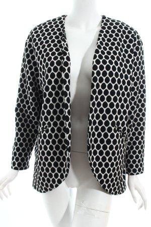 H&M Blazer weiß-schwarz Punktemuster Boyfriend-Look