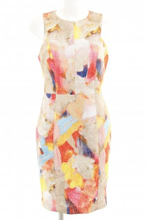 H&M Kokerjurk abstract patroon extravagante stijl