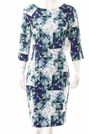 H&M Bleistiftkleid grafisches Muster extravaganter Stil
