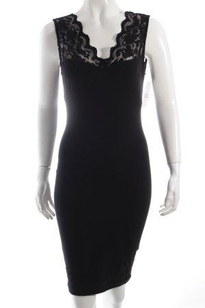 H&M Bleistiftkleid schwarz extravaganter Stil