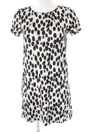 H&M Bleistiftkleid schwarz-weiß Punktemuster Casual-Look