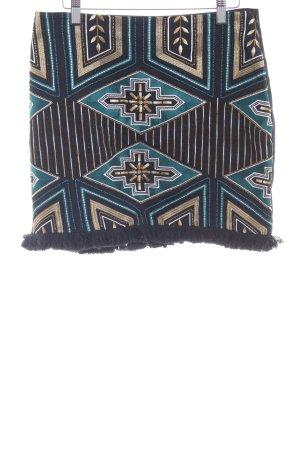 H&M Bleistiftrock Aztekenmuster Boho-Look