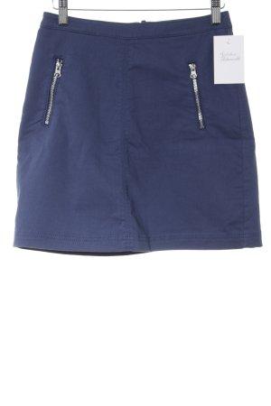 H&M Bleistiftrock dunkelblau Casual-Look