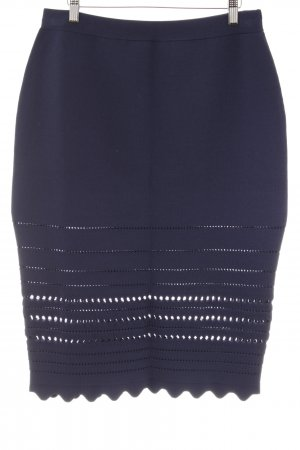 H&M Bleistiftrock dunkelblau Elegant
