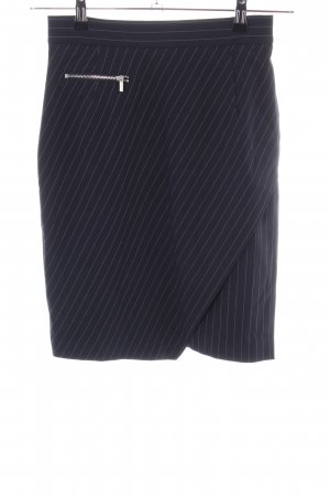 H&M Pencil Skirt black-light grey striped pattern casual look