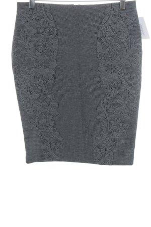 H&M Bleistiftrock grau-dunkelgrau florales Muster Casual-Look