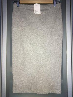 H&M Bleistiftrock Hellgraumeliert Größe S