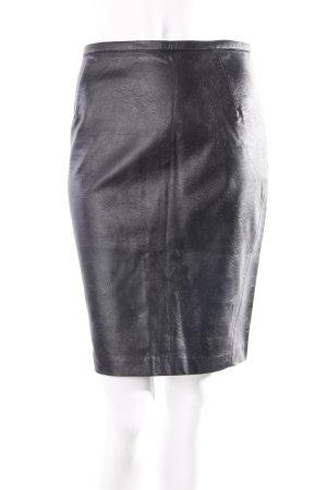 H&M Bleistiftrock Lederoptik schwarz