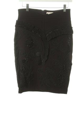 H&M Bleistiftrock schwarz extravaganter Stil