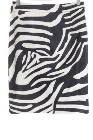 H&M Bleistiftrock schwarz-creme Animalmuster extravaganter Stil