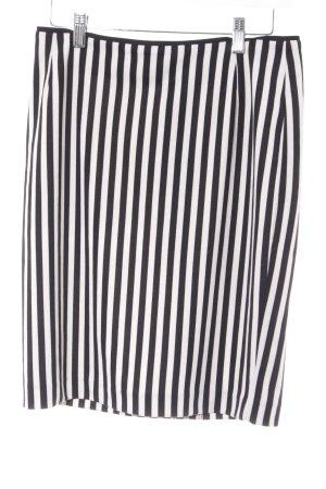 H&M Bleistiftrock schwarz-weiß Streifenmuster Casual-Look
