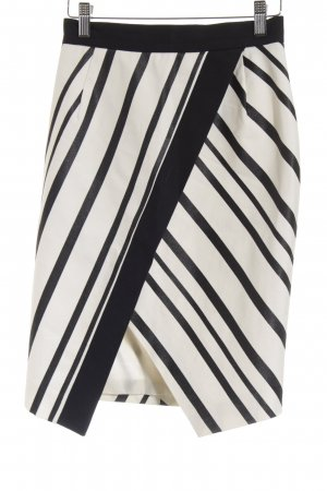 H&M Bleistiftrock schwarz-wollweiß Streifenmuster Urban-Look