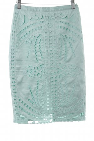 H&M Bleistiftrock türkis abstraktes Muster Elegant