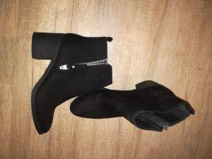 H&M Blockabsatz Ankle Boots Wie neu Velourleder (Imitat)