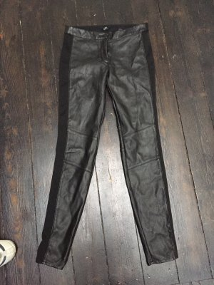 H&M Blogger Stretch Fake Leder Hose Leggings XS S