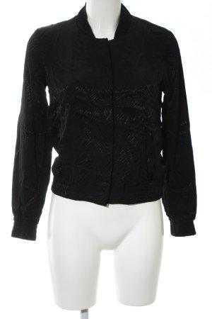 H&M Blouson noir motif abstrait style décontracté